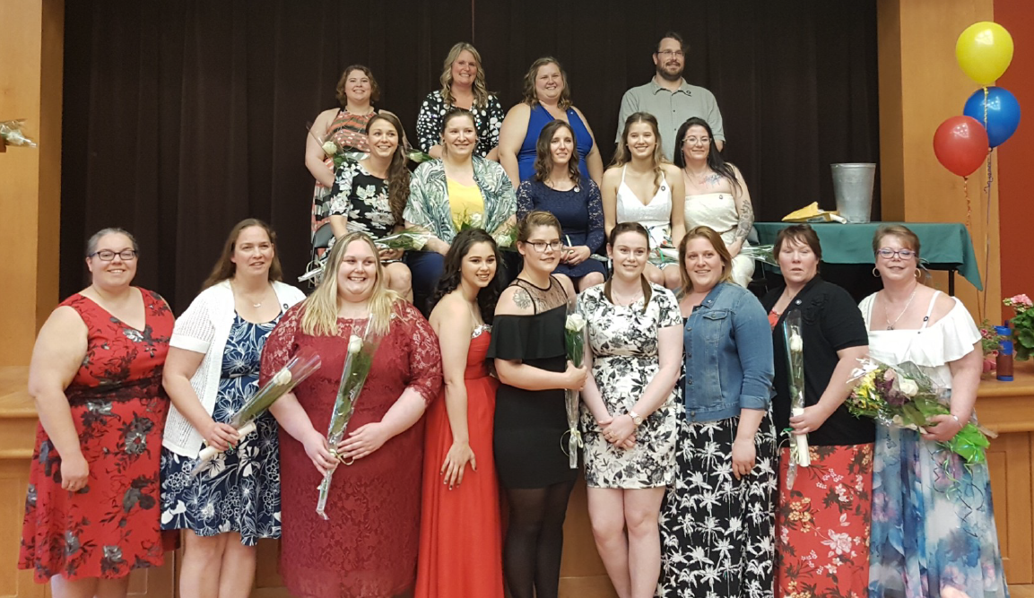 Photo of Algonquin PSW students graduating from Bonnechere Manor